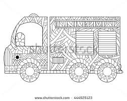 fire engine coloring book adults vector stock vector 444925123