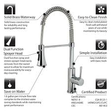 cleaning kitchen faucet luxier pull single handle kitchen faucet reviews wayfair