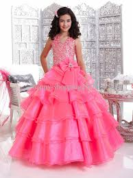 Children S Clothing Clearance Blush Kids Pageant Dresses Halter Ball Gown Little Girls Birthday