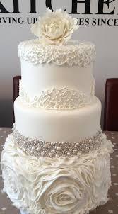 wedding cake decoration jeweled wedding cake peony ruffles and cake