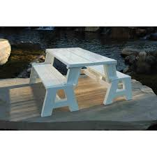 Plans For Building A Children S Picnic Table by Convert A Bench Walmart Com