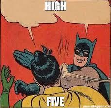 High Five Meme - high five meme batman slapping robin 47412 memeshappen