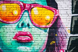 green red and pink woman graffiti wall paint free image peakpx green red and pink woman graffiti wall paint preview
