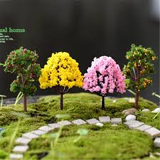 mini garden decorations resin tree garden miniatures trees