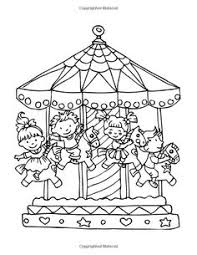 merry go round coloring pages at the fair coloring pages coloring pages for kids pinterest