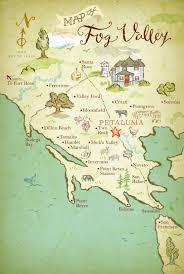 Map Of Sonoma County Southern Sonoma County U0026 Coastal West Marin U0027s Limited Edition Fog