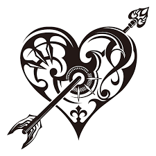 butterfly heart tattoo by pulsedragon on clipart library clip