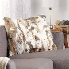 White Fur Cushions Shop Faux Fur Cushions Online In Canada Simons