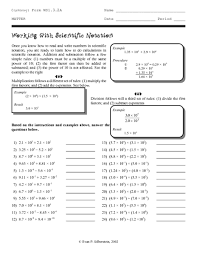 working with scientific notation working with scientific notation 8th 10th grade worksheet