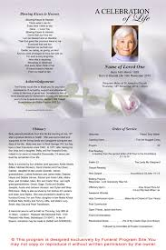 Funeral Ceremony Program Memorial Brochure Template Funeral Program Image 3 8 Free