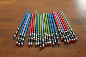 star wars light saber pencils keeping it simple crafts
