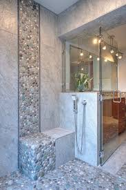 bathroom design bathroom contemporary with open shower river stone