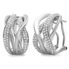 gold diamond earrings 0 84ct 14k white gold diamond earring sc47003351 bova diamonds