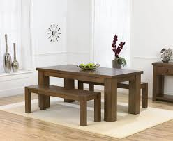 bench solid oak dining table and set reclaimed regarding modern