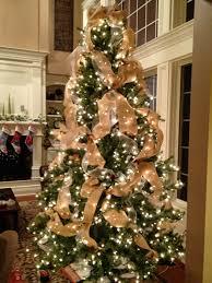burlap christmas tree wonderful design ideas decorating christmas tree with burlap ribbon