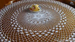 Crochet Table Cloth 17 Free Crochet Patterns For Flowers Crocheted Round Cotton