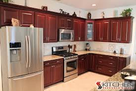 Kitchen With Maple Cabinets by This Traditional Kitchen Has Maple Cabinets In A Merlot Finish