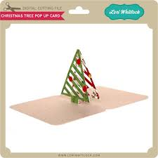 christmas tree pop up card lori whitlock u0027s svg shop