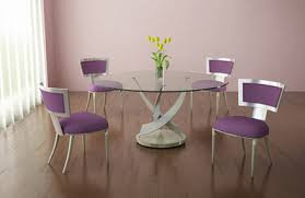 Dining Table Modern Round Round Glass Dining Table From Elite Manufacturing