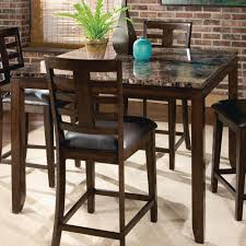standard furniture bella square counter height table w faux