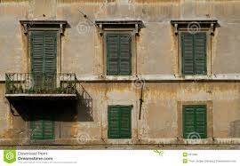 windows with blinds in rome stock photo image 937030