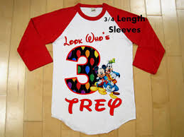 mickey mouse birthday shirt mickey mouse clubhouse birthday shirt raglan shirt available