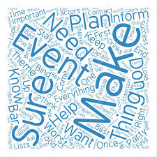 key ideas to your event a successful one word cloud concept