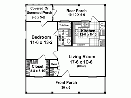 How Big Is 500 Square Feet Cottage House Plan With 600 Square Feet And 1 Bedroom From Dream