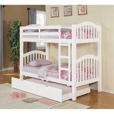 Twin Over Twin Bunk Beds With Trundle by Acm White Finish Twin Bunk Bed With Trundle Picture Listed In