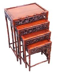 antique oriental hardwood nest of coffee tables asian coffee table