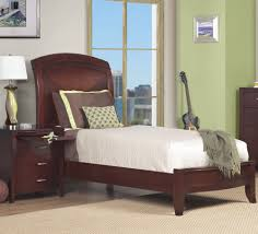 modus brighton low profile sleigh bed in cinnamon beyond stores