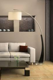 Square Floor Lamp Lighting Arc Floor Lamp And White Sofa Plus Square Coffee Table