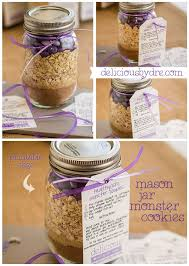cookie gifts healthy jar cookie mix recipe