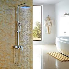 rozin bathroom wall mount tub shower faucet led color 10