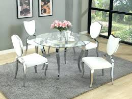 round glass table for 6 round glass table and chairs set lesdonheures com
