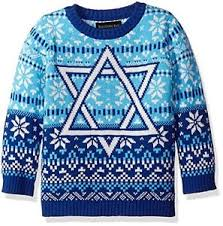 hanukkah sweater boys hanukkah sweater of david blue