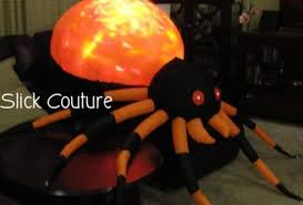 Gemmy Spider Outdoor Halloween Decorations by 8 U0027 Projection Fire And Ice Orange Spider Halloween Airblown