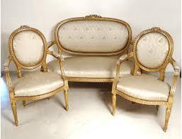 canape louis xvi salon louis xvi giltwood armchairs sofa flowers nineteenth century