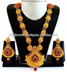 gold plated necklace sets images One gram gold plated necklace set wholesale wedding wear jewelry jpg