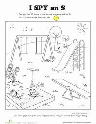 i spy letter s worksheet education com