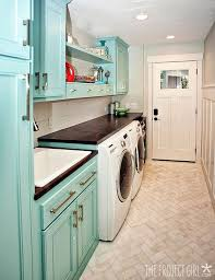 laundry room floor cabinets beautiful laundry room floor tile love the colorful cabinets and