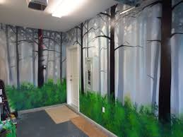 how to paint a misty forest mural using spray paint youtube