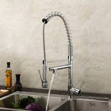 Kitchen Faucets With Pull Out Sprayer Lightinthebox Deck Mount Single Handle Solid Brass Spring Kitchen