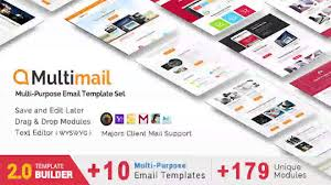 Html Email Template Responsive by Multimail Responsive Email Set Mailbuild Online Website