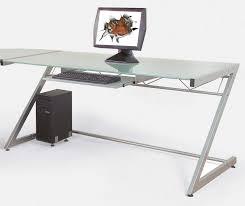 Desk Top Printer Stand by Z Line Delano Glass Top Corner Computer Desk Black Home Furniture
