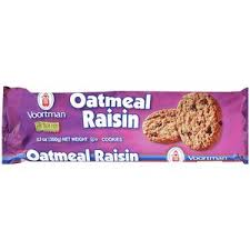 buy voortman oatmeal raisin cookies 12 3 oz in cheap price on