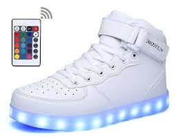 high top light up shoes shinynight high top led shoes light up usb charging flashing sneakers