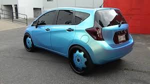 nissan versa light blue nissan versa with color changing wrap done by wrap starz youtube