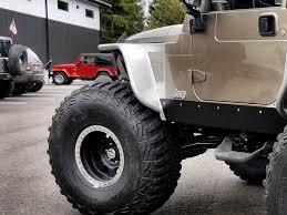 built jeep rubicon hi fender tube fenders with built in flares for jeep wrangler tj lj