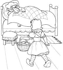 red riding hood kid coloring sheet coloring